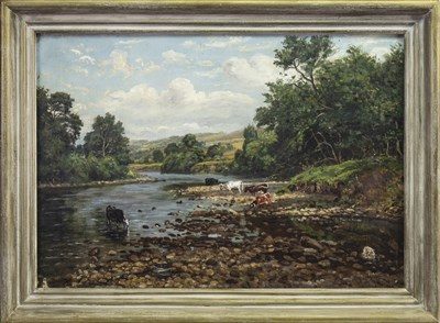 Lot 440-THE BED OF THE RIVER CONWAY, AN OIL