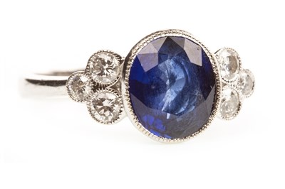 Lot 50-A SAPPHIRE AND DIAMOND RING