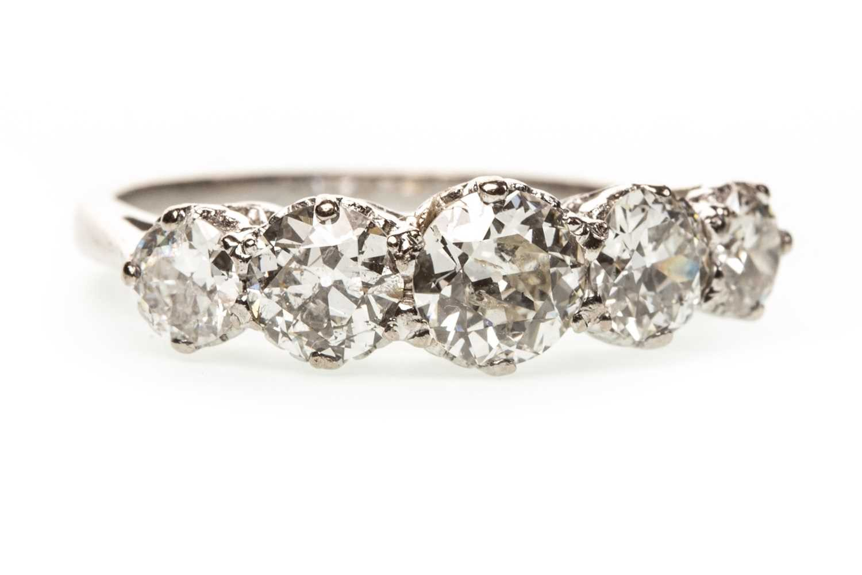 Lot 162-A DIAMOND FIVE STONE RING
