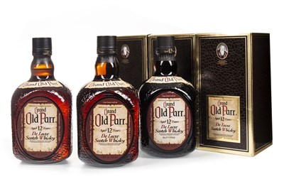 Lot 411-THREE BOTTLES OF GRAND OLD PARR AGED 12 YEARS