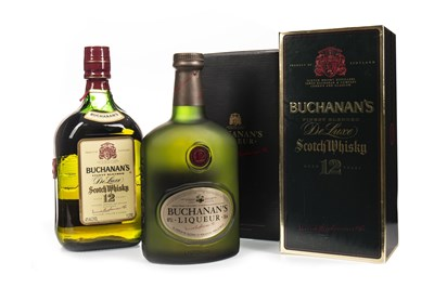 Lot 412-ONE LITRE OF BUCHANAN'S AGED 12 YEARS AND BUCHANAN'S LIQUEUR