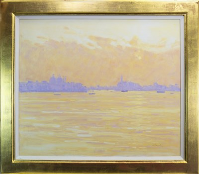 Lot 525-SUNRISE VENICE, A LARGE OIL BY GEORGE DEVLIN