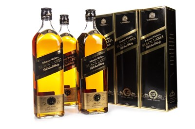 Lot 420-THREE LITRES OF JOHNNIE WALKER BLACK LABEL AGED 12 YEARS