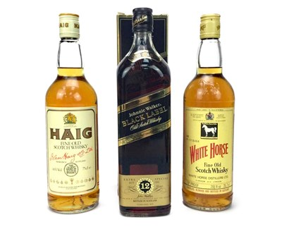 Lot 424-JOHNNIE WALKER BLACK LABEL, WHITE HORSE AND HAIG