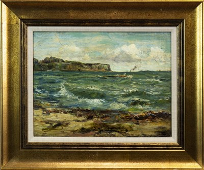 Lot 526-COASTAL SCENE, A CONTEMPORARY SCHOOL OIL