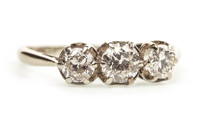 Lot 204-A DIAMOND THREE STONE RING