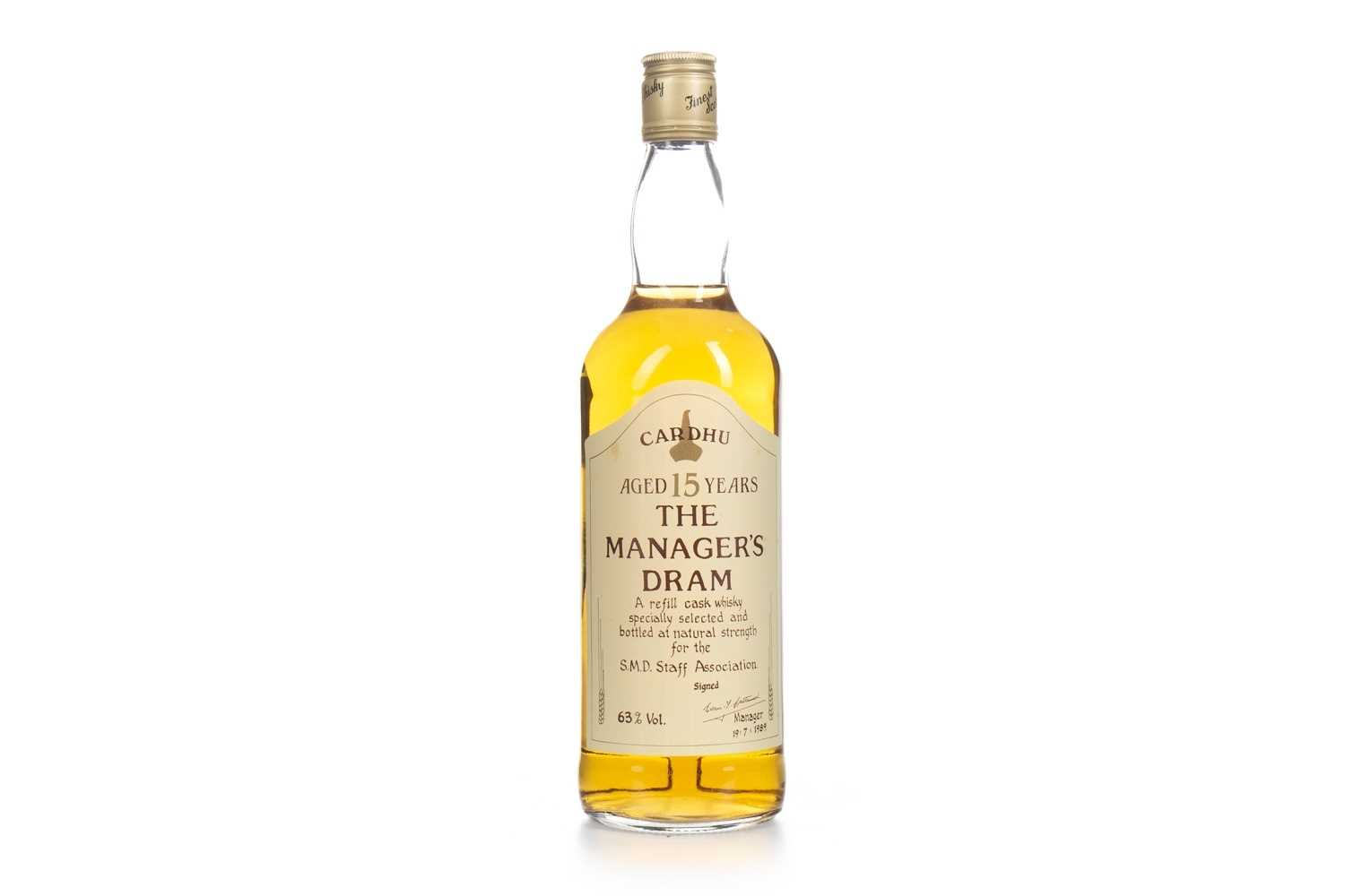 Lot 3-CARDHU MANAGERS DRAM AGED 15 YEARS