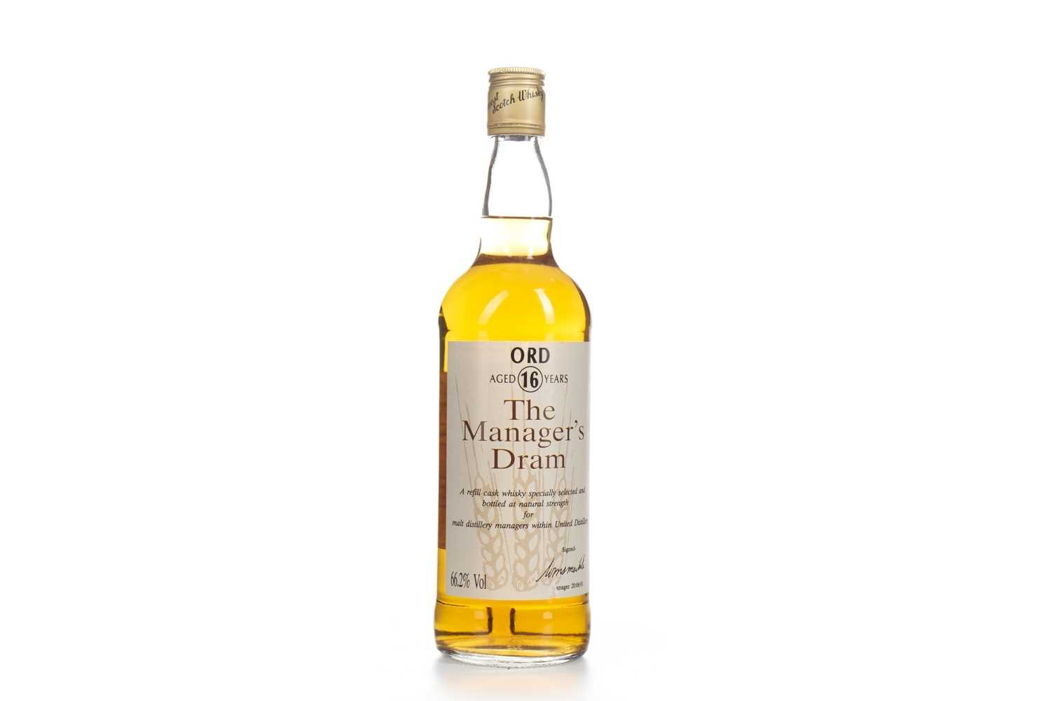 Lot 7-ORD MANAGERS DRAM AGED 16 YEARS