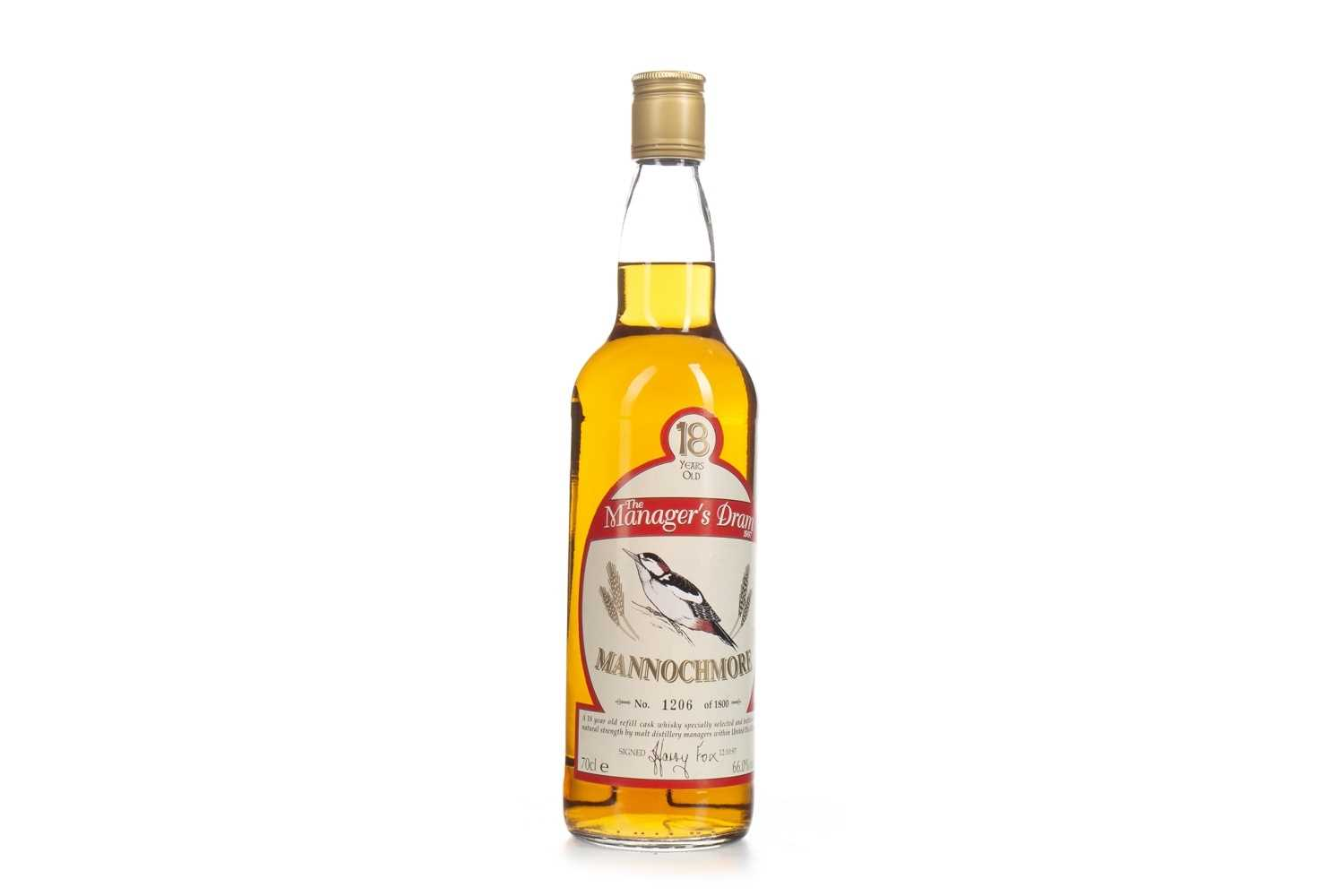 Lot 14-MANNOCHMORE MANAGERS DRAM AGED 18 YEARS