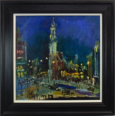 Lot 530-TRAFALGAR SQUARE, AN OIL BY WALTER LANGHAMMER