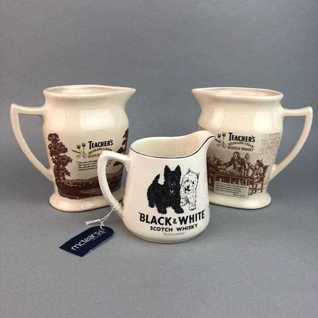 Lot 19-A LOT OF WHISKY JUGS, GUINESS MIRROR AND ICE BUCKET