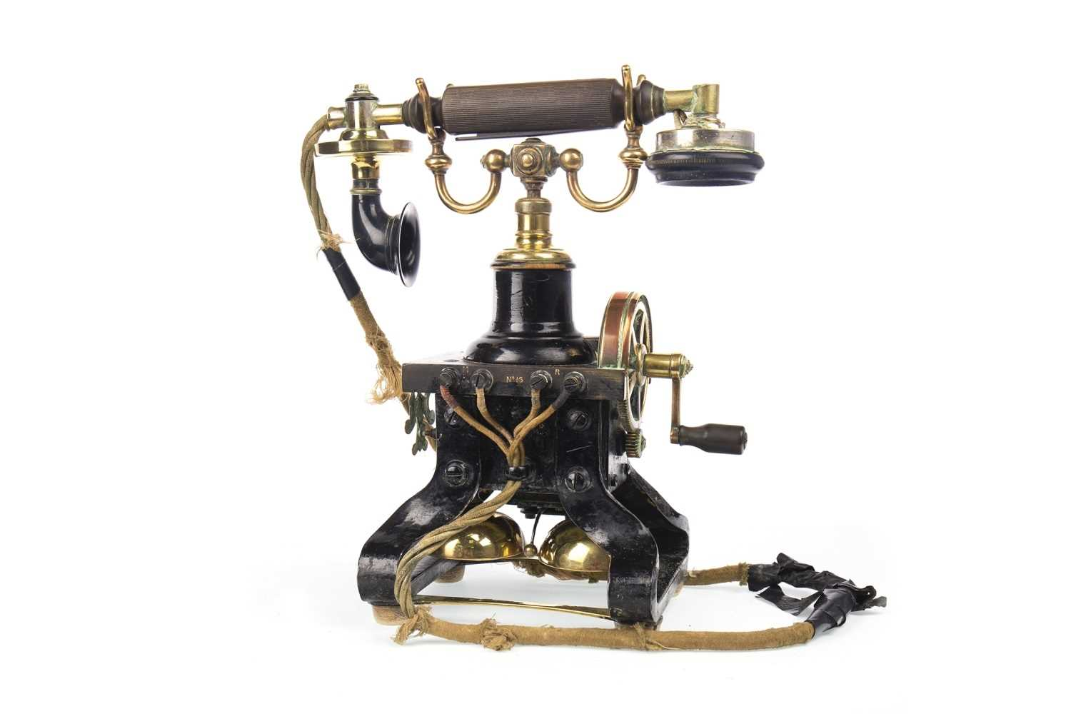 Lot 1524 - A RARE L.M. ERICSSON NO.16 SKELETAL PHONE