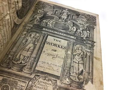 Lot 1579-THE WORKES, BY BENJAMIN JONSON