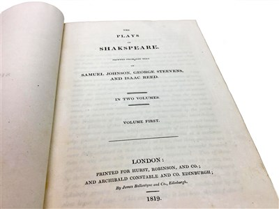 Lot 1591-SHAKSPEARE THE PLAYS OF