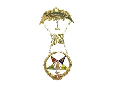 Lot 1610 - AN ORDER OF THE EASTERN STAR MASONIC MEDAL 1966