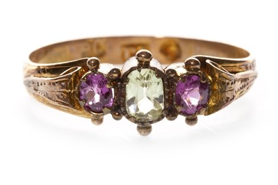 Lot 59-A VICTORIAN GEM SET RING