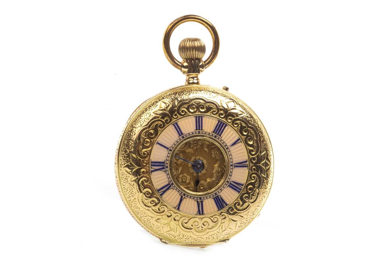 Lot 761-A LADY'S CONTIENTAL GOLD FOB WATCH