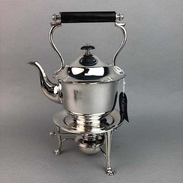 Lot 5-A SILVER CONDIMENT SET AND SILVER PLATED ITEMS