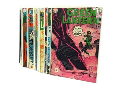 Lot 1619 - A COLLECTION OF DC COMICS INCLUDING GREEN LANTERN AND DETECTIVE COMICS