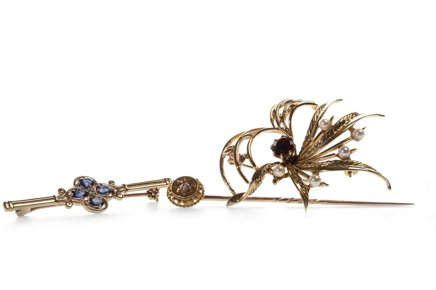 Lot 6-TWO BROOCHES AND A PIN