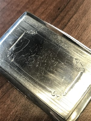 Lot 870 - A SILVER SNUFF BOX BY NATHANIEL MILLS