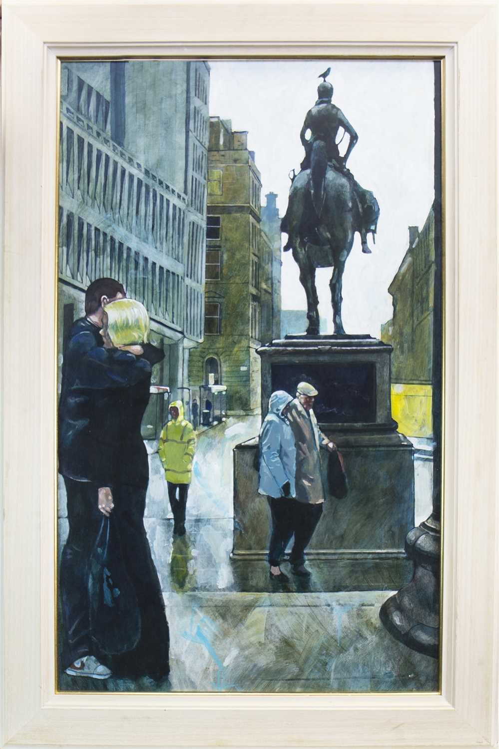 Lot 620-ON GOMA STEPS, AN ACRYLIC BY BRYAN EVANS