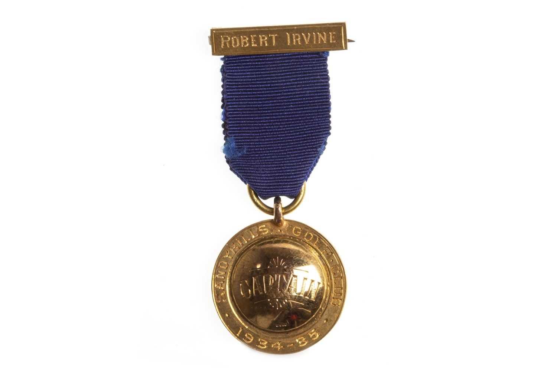 Lot 1838-A SANDYHILLS GOLF CLUB GOLD CAPTAINS MEDALLION 1934-35