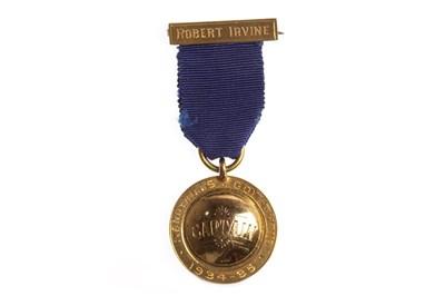Lot 1838 - A SANDYHILLS GOLF CLUB GOLD CAPTAINS MEDALLION 1934-35