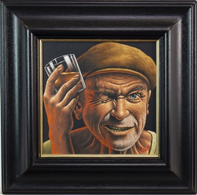 Lot 645-ROAD TO RUIN, AN OIL ON CANVAS BY GRAHAM MCKEAN