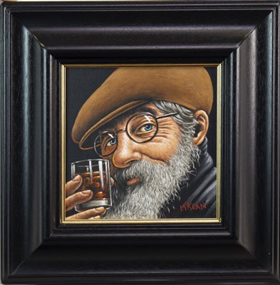 Lot 648-SELF MEDICATING, AN OIL BY GRAHAM MCKEAN