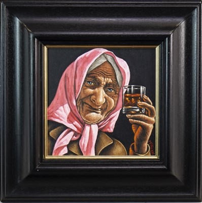Lot 654-NIPPY SWEETIE, AN OIL BY GRAHAM MCKEAN