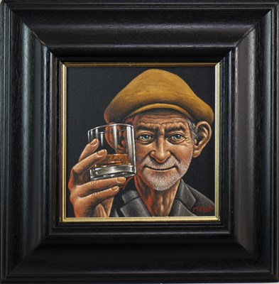 Lot 662-EARS TO YOU SHUG, AN OIL BY GRAHAM MCKEAN
