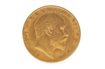 Lot 504-A GOLD HALF SOVEREIGN, 1905