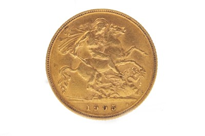 Lot 504-A GOLD HALF SOVEREIGN, 1905