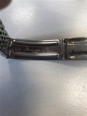 Lot 772-A MONDAINE WRIST WATCH WITH OMEGA STRAP
