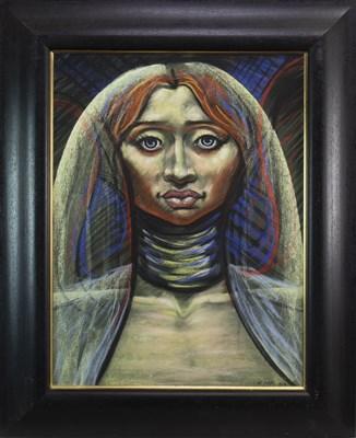 Lot 681-AFRICAN GIRL, A PASTEL BY FRANK MCFADDEN