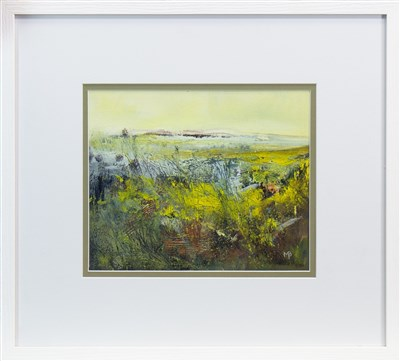 Lot 695 - AUTUMN GORSE, A MIXED MEDIA BY MAY BYRNE