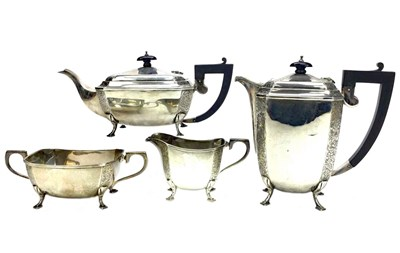 Lot 871 - A SILVER FOUR PIECE TEA SERVICE