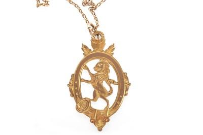 Lot 1839 - AN EDWARDIAN GOLF PRIZE GOLD MEDAL
