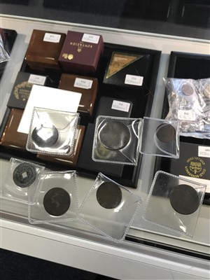 Lot 505-A GROUP OF EARLY COPPER AND OTHER COINS AND TOKENS