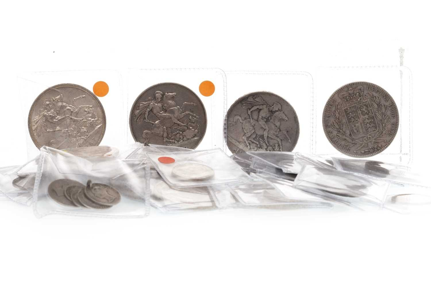 Lot 507-A COLLECTION OF VICTORIAN SILVER AND OTHER COINS