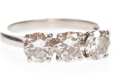 Lot 47-A DIAMOND THREE STONE RING