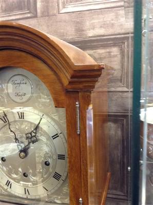 Lot 1424-A MAHOGANY GRANDMOTHER CLOCK
