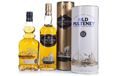 Lot 303-GLENGOYNE AGED 10 YEARS AND OLD PULTENEY AGED 12 YEARS