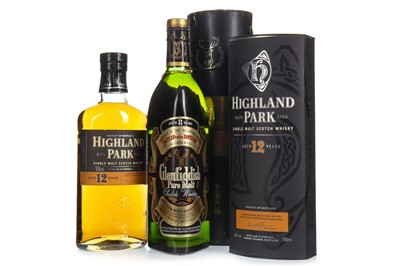Lot 304-GLENFIDDICH AGED 8 YEARS AND HIGHLAND PARK AGED 12 YEARS