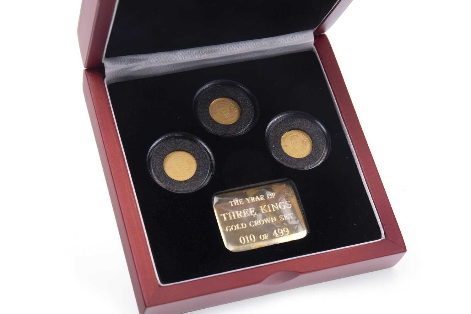 Lot 520-A THE THREE KINGS GOLD CROWN SET