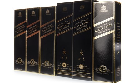 Lot 403-SIX BOTTLES OF JOHNNIE WALKER BLACK LABEL AGED 12 YEARS