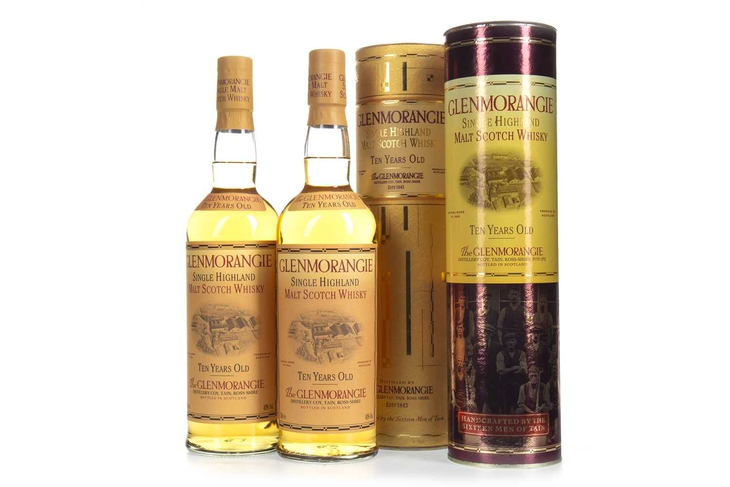 Lot 305-TWO BOTTLES OF GLENMORANGIE 10 YEARS OLD