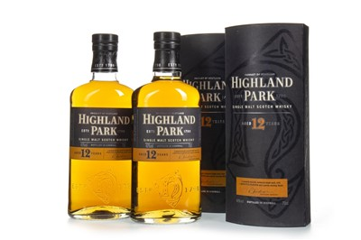 Lot 306-TWO BOTTLES OF HIGHLAND PARK 12 YEARS OLD