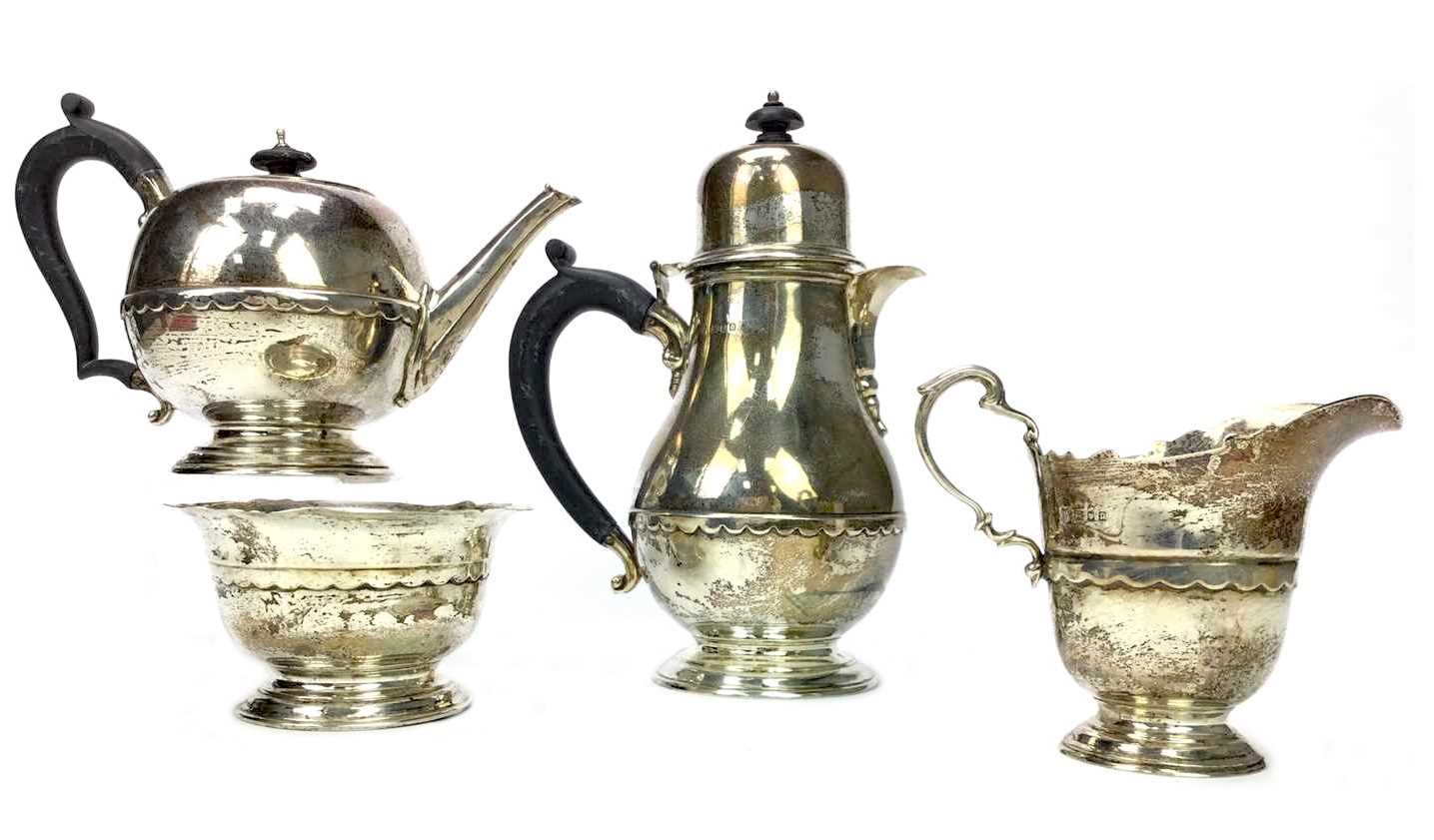 Lot 877 - A GEORGE V FOUR PIECE TEA AND COFFEE SERVICE